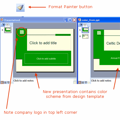 copy a powerpoint slide master to another presentation, Modern powerpoint