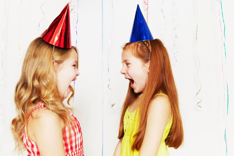 Two girls at a party.