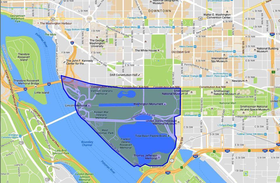West Potomac Park Map Washington DC