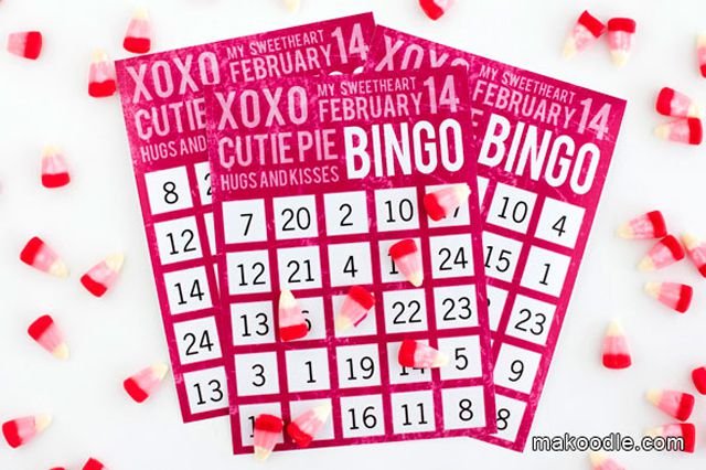 9 Sets of Free Printable Valentine Bingo Cards – Valentines Day Bingo Cards