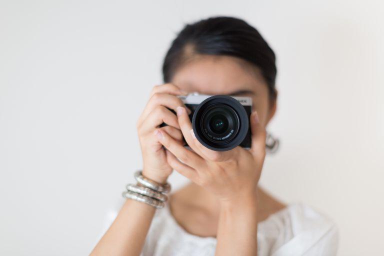 Asian Girl and Camera