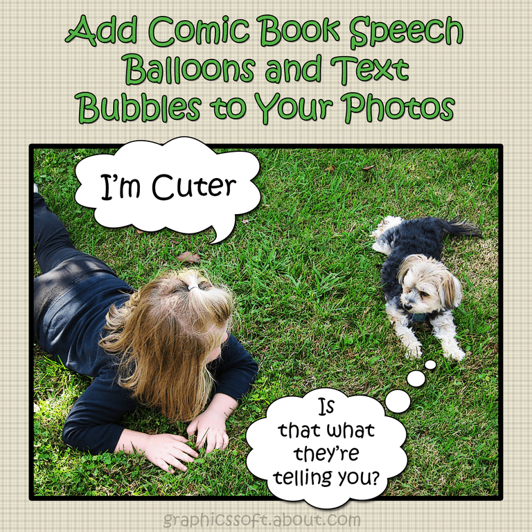 Add Comic Book Speech Bubbles to Your Photos