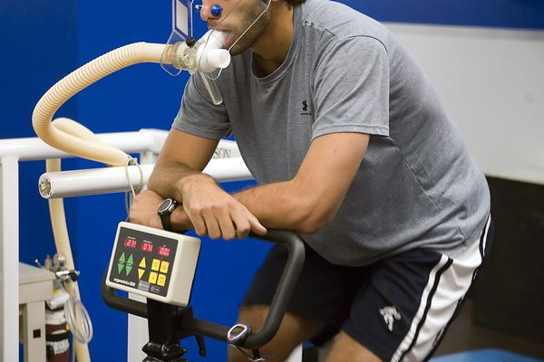Measuring VO2 Max in an athlete