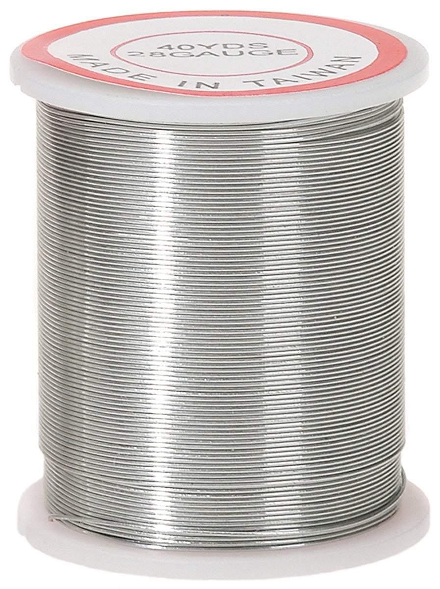 Spool of silver wire