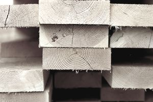 Picture of stacked lumber