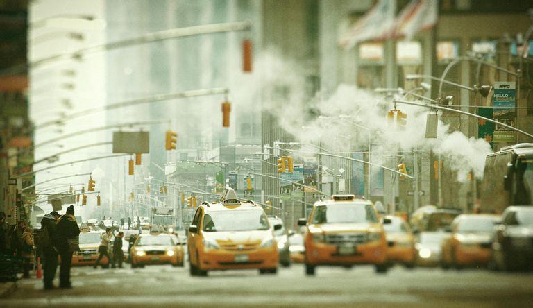 Traffic road, New York