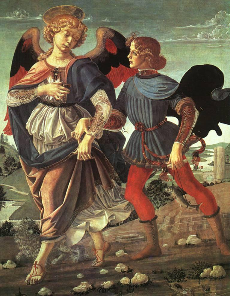 Early Italian renaissance piece of art from the Andrea del Verrocchio via Wikimedia Commons