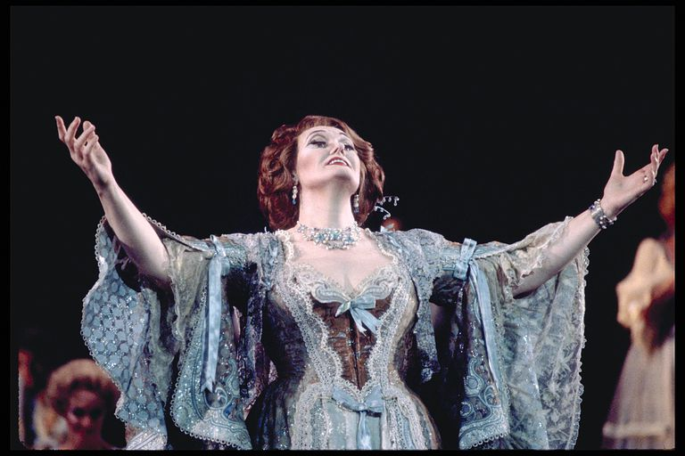 Dame Joan Sutherland performs the role of Hanna in Franz Lehár's famous opera, The Merry Widow.