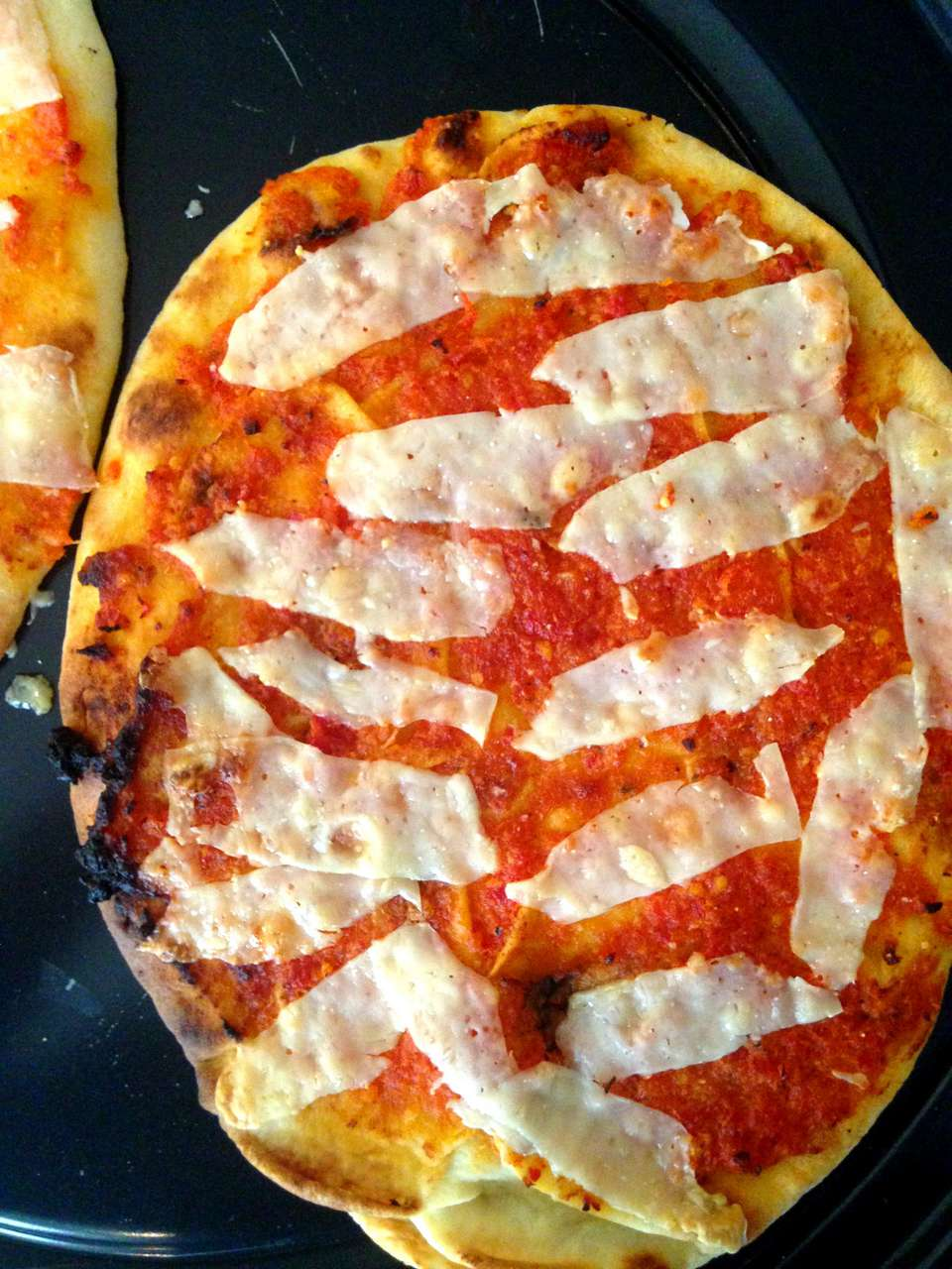Two Cheese and Sun Dried Tomato Pesto Naan Pizza