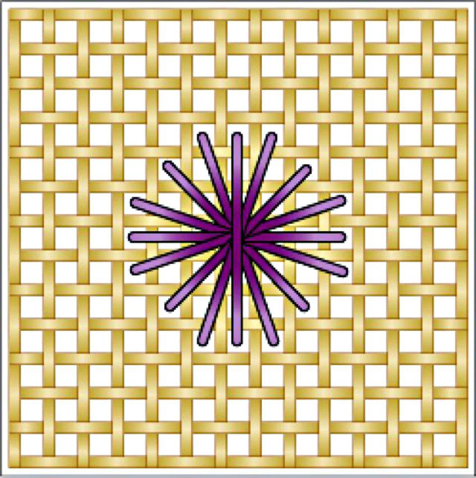 Rhodes Octagon-Round Needlepoint Stitch Diagram