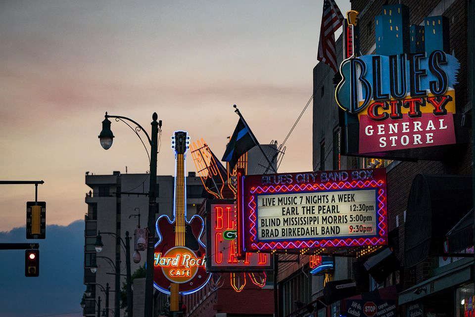 Neon Signs on Beale Street (Memphis)