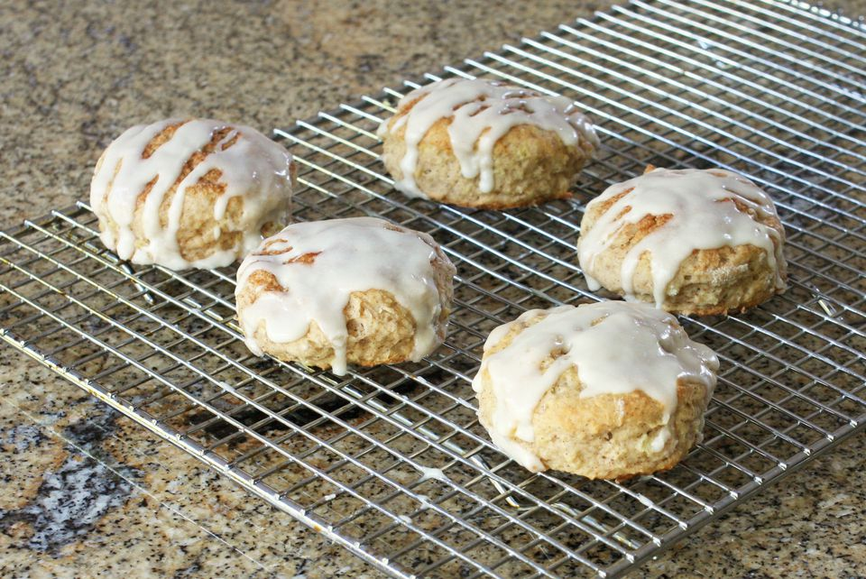 Apple Cinnamon Biscuits on cooling rack
