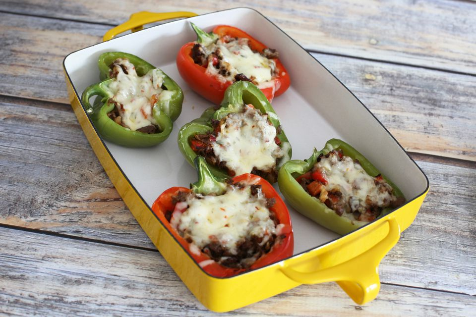 Steak and Cheese Stuffed Peppers