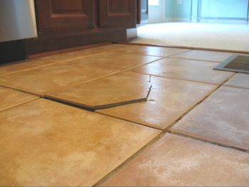 Your Tile Floor Is Cracked. This Is Why. Flooring Materials