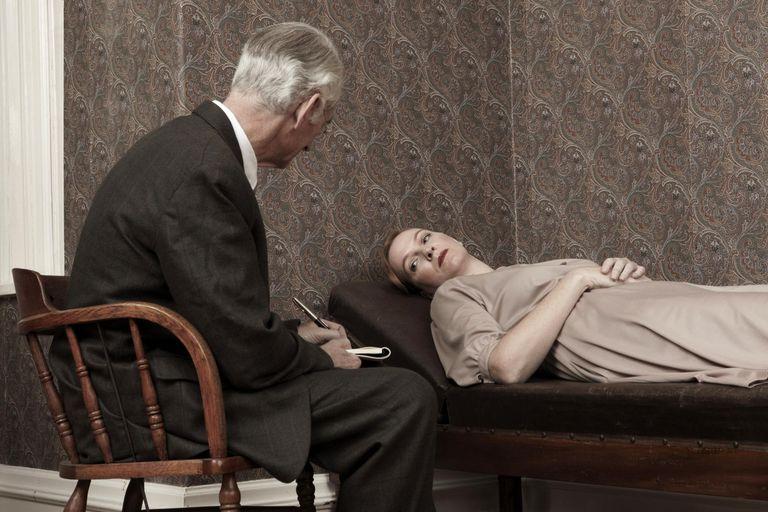 Psychologist listening to female patient