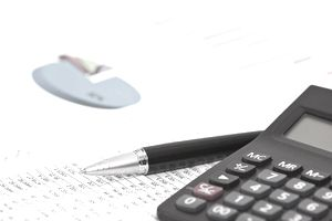 accounting and financial analysis on the desk