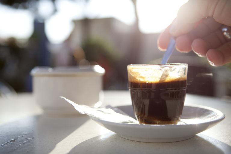 Espresso shot on a table