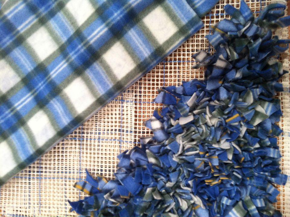 handknotted fleece rug