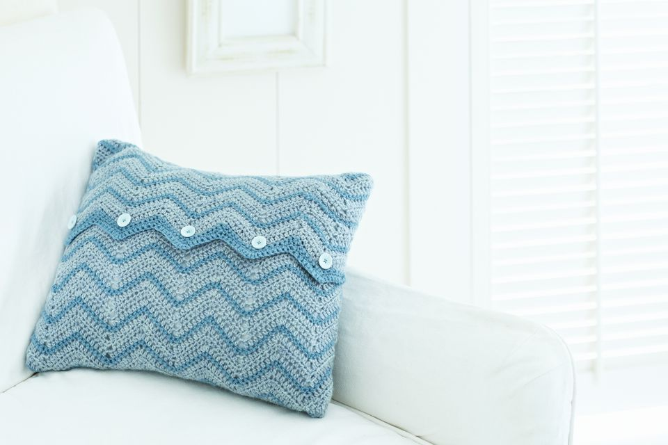 Crocheted sofa pillow