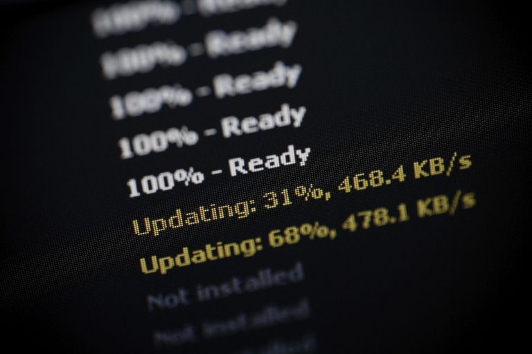 Photo of computer software updating