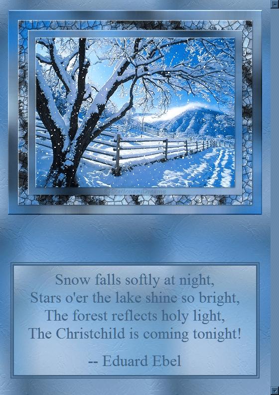 Snow Scene - Free Christmas Stationery
