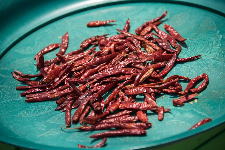 Close-Up Of Dried Chili