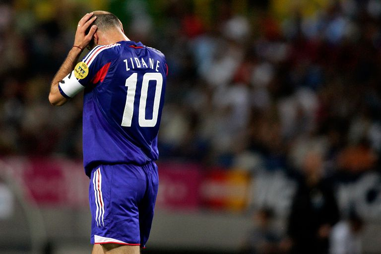 Zidane France soccer loss
