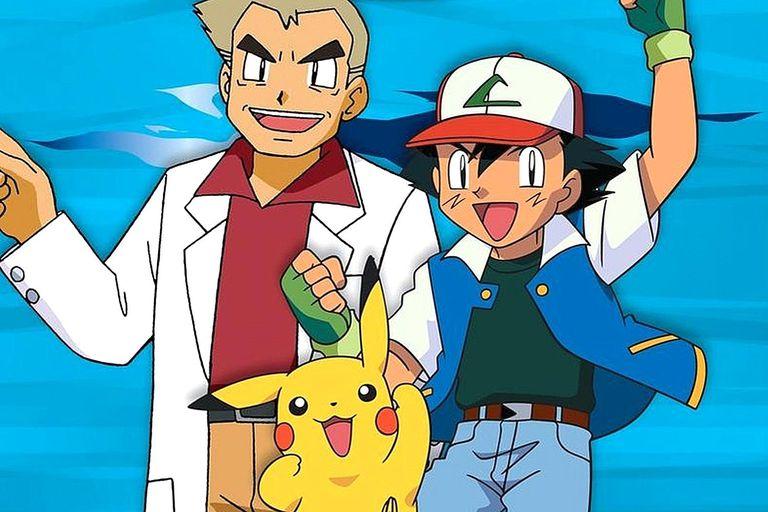 Professor Oak, Pikachu and Ash in Pokemon Master Quest.