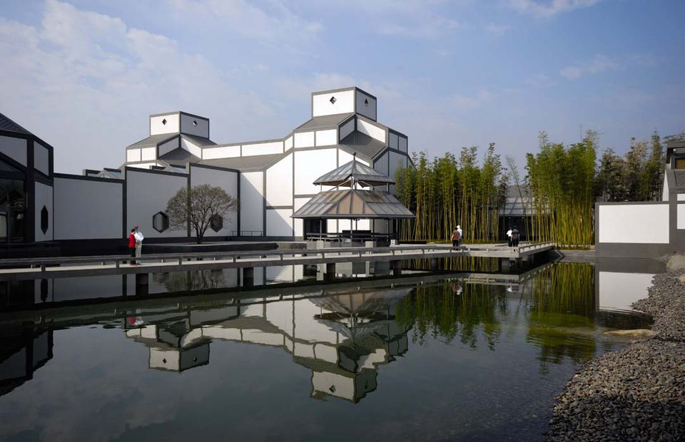 Garden view of the I.M.Pei-designed Suzhou Museum