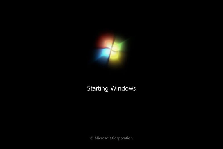 Windows start-up screen