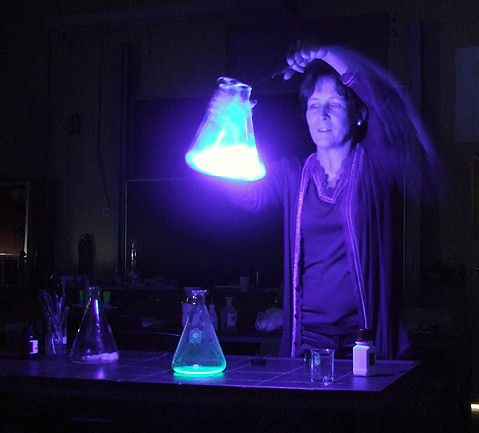 This chemistry demonstration is an example of a chemoluminescent reaction.