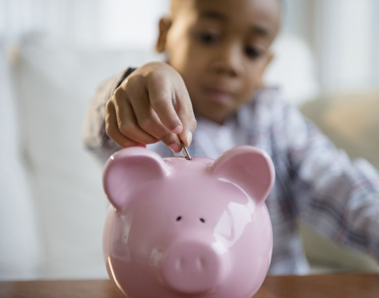 Teach your child to save his allowance money.