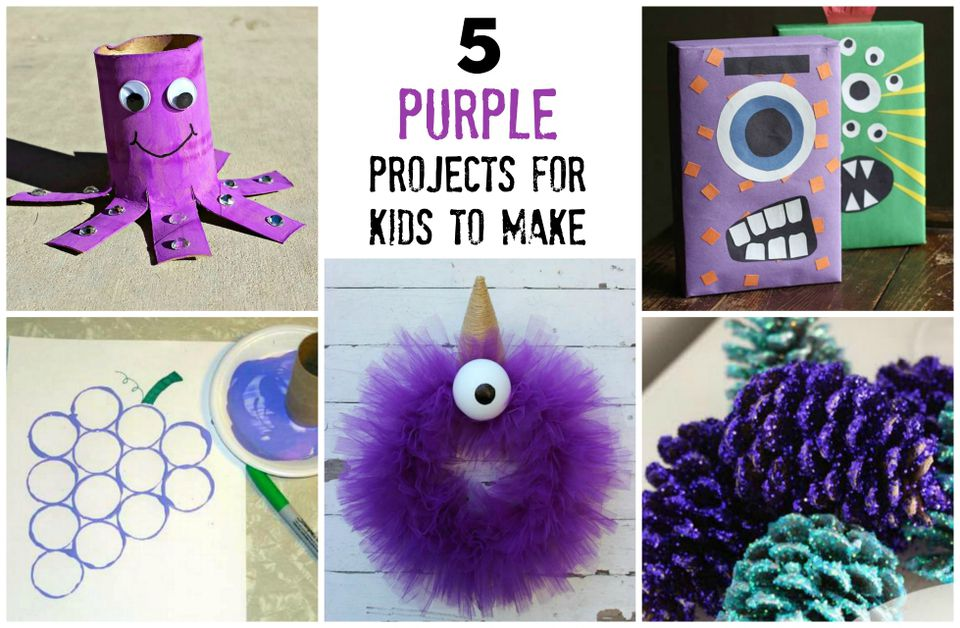 5 Purple Projects for Kids to Make