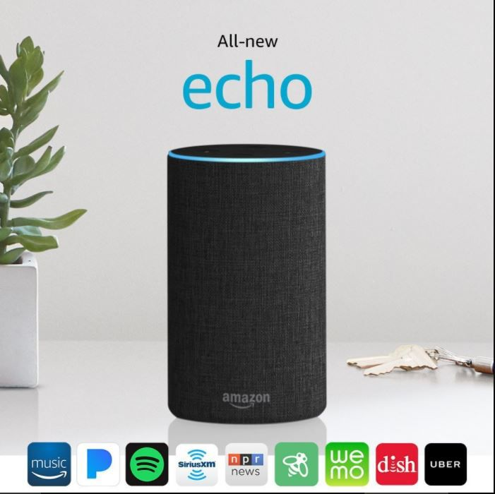 A picture of the Amazon Echo.