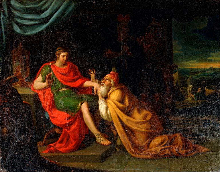 Priam Begs Achilles for Hector's Body - Artist 17th C, Padovanino