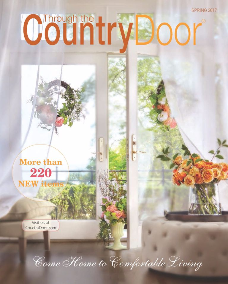 The Spring 2017 cover of Through the Country Door catalog