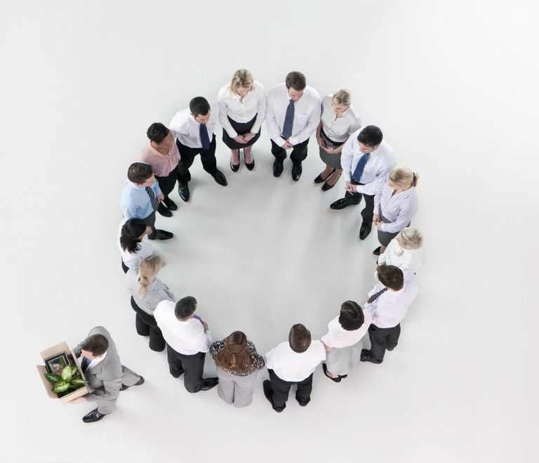 Fired employee excluded from circle of employees