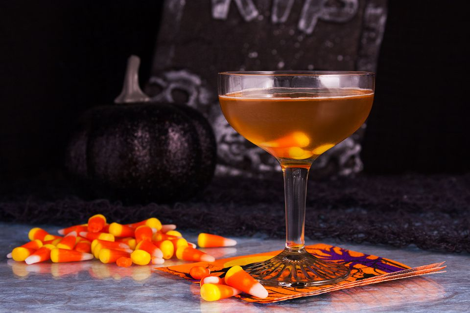 Candy Corn Cocktail With Bombay Sapphire