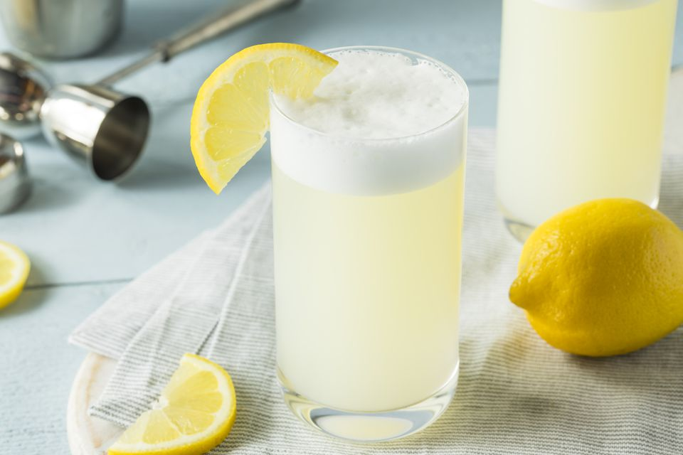 Refreshing Cold Egg Gin Fizz