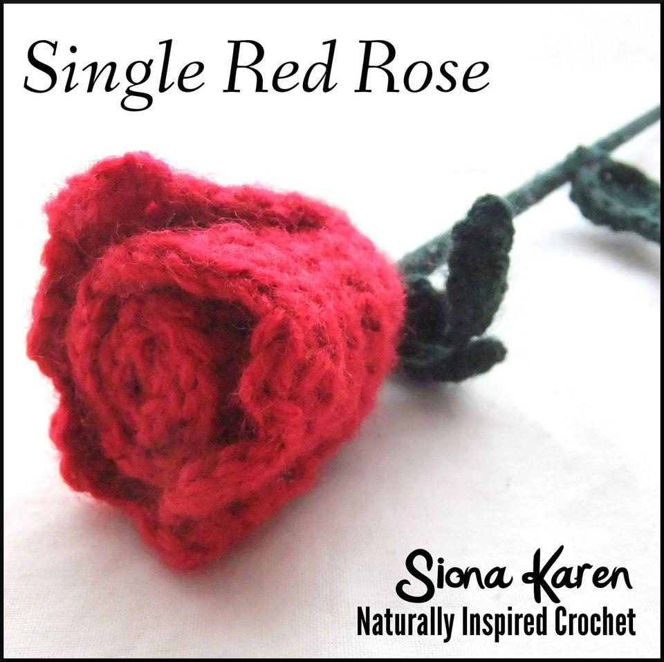 10 crochet patterns for roses red rose crochet pattern bankloansurffo Choice Image