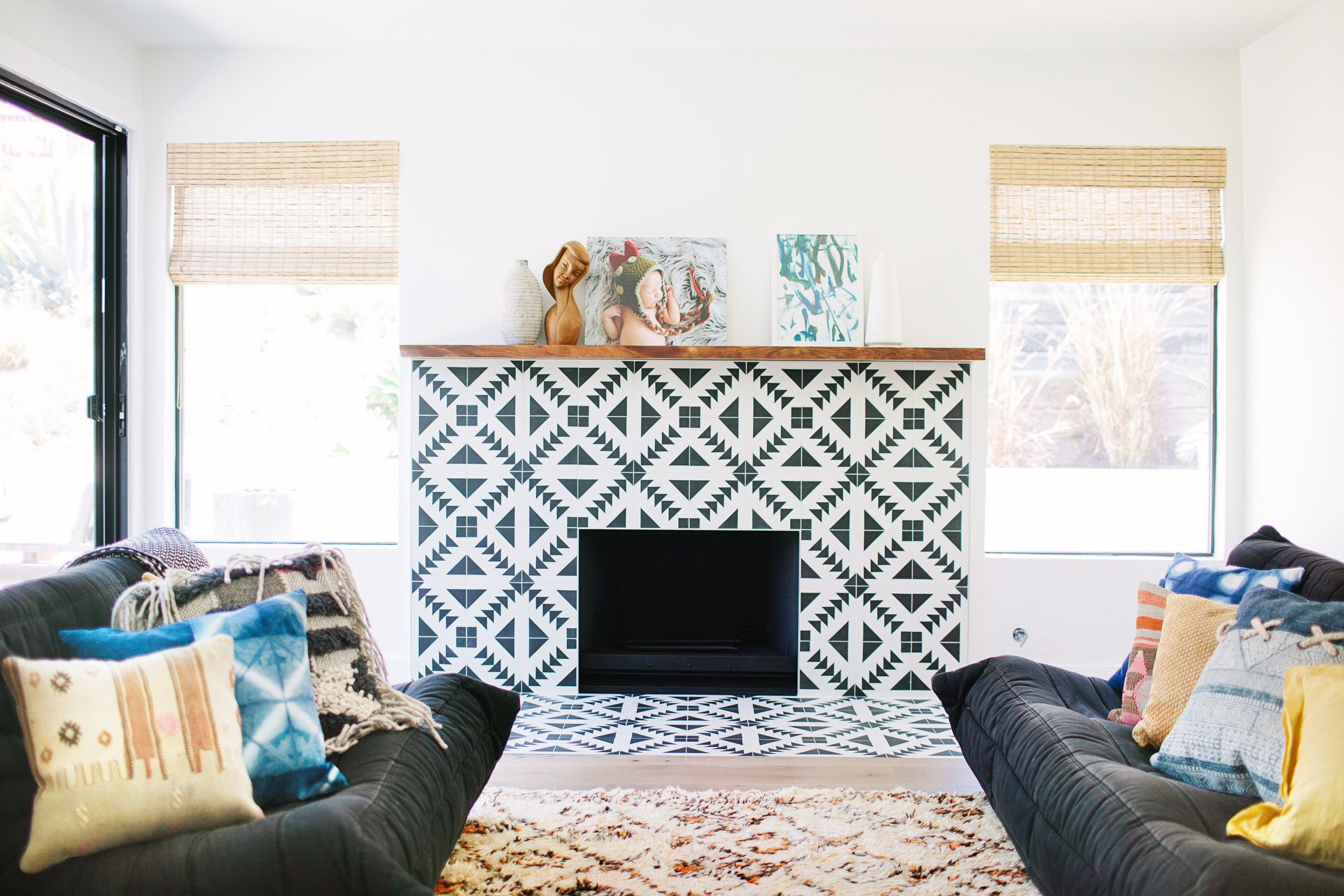 25 inspiring fireplaces with beautiful tile
