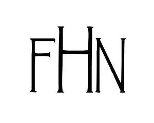 """FHN"" monogram in Landsdowne font."