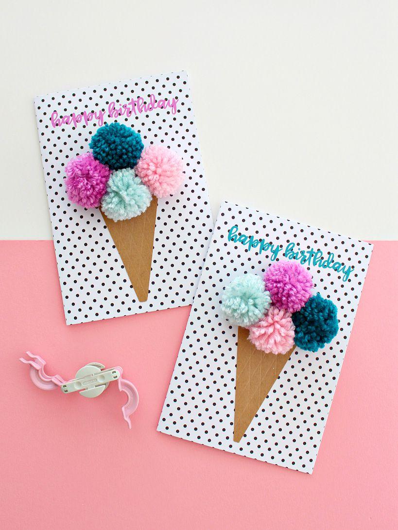 25 of the best diy birthday cards free printable pom birthday card bookmarktalkfo Choice Image