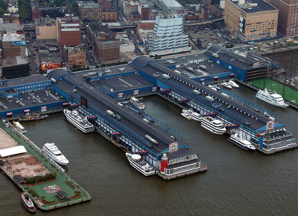 Chelsea Piers from the air.
