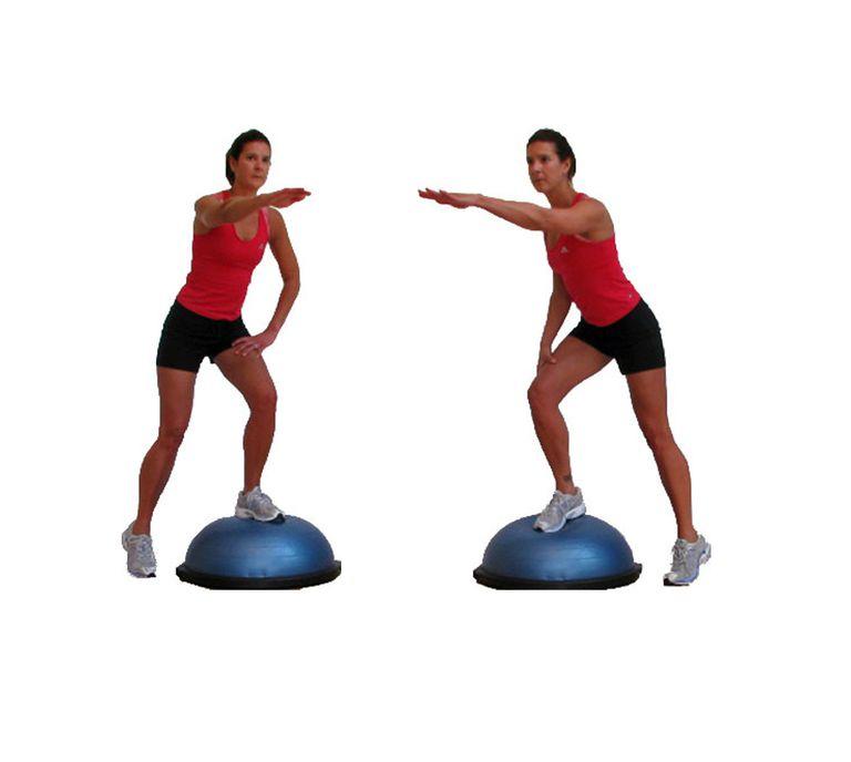 Bosu Ball Side Hops: BOSU Ball Total Body Workout