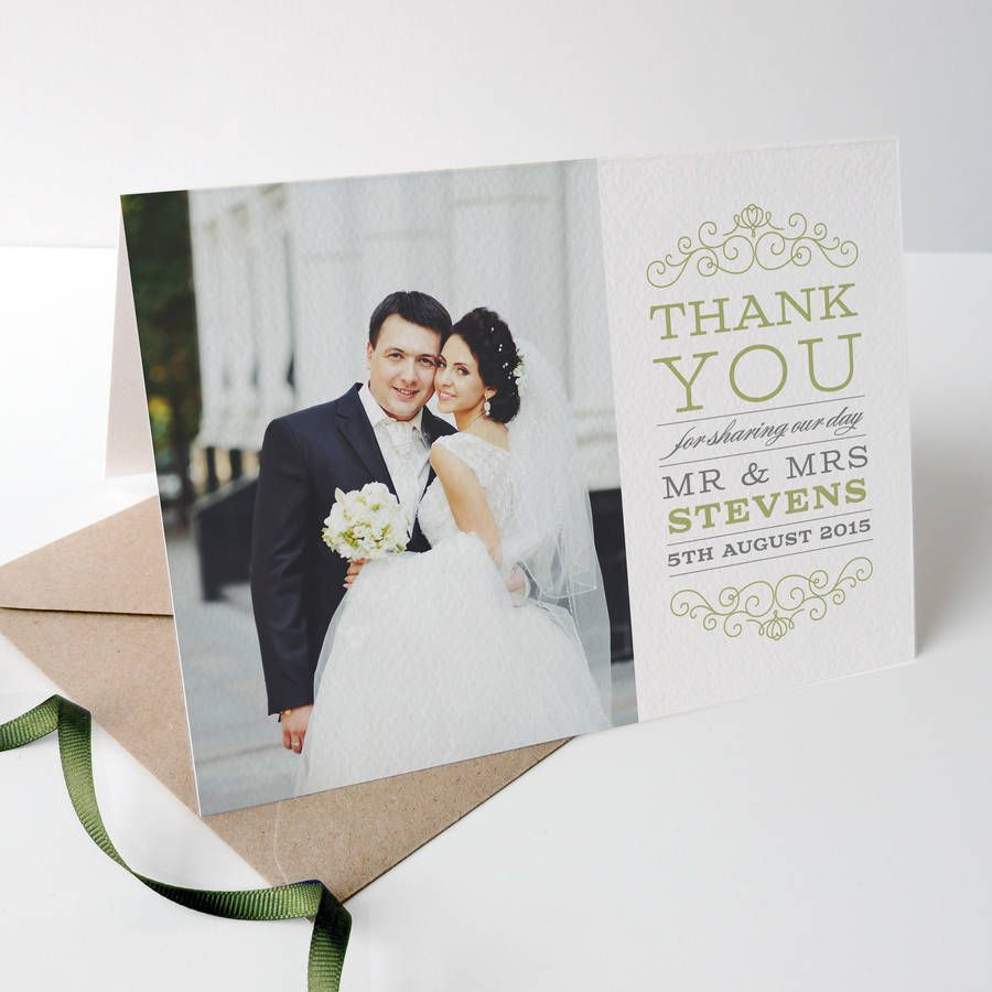 The ultimate guide to wedding thank you notes and etiquette photo wedding thank you cards junglespirit Image collections