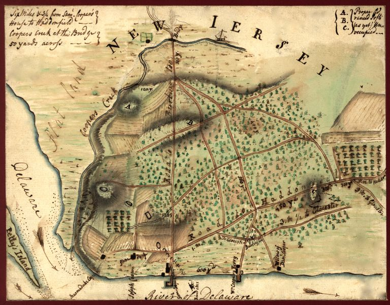 Map Of Camden, New Jersey, & Environs