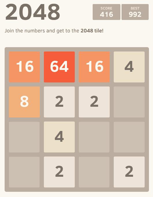2048 Game Screenshot