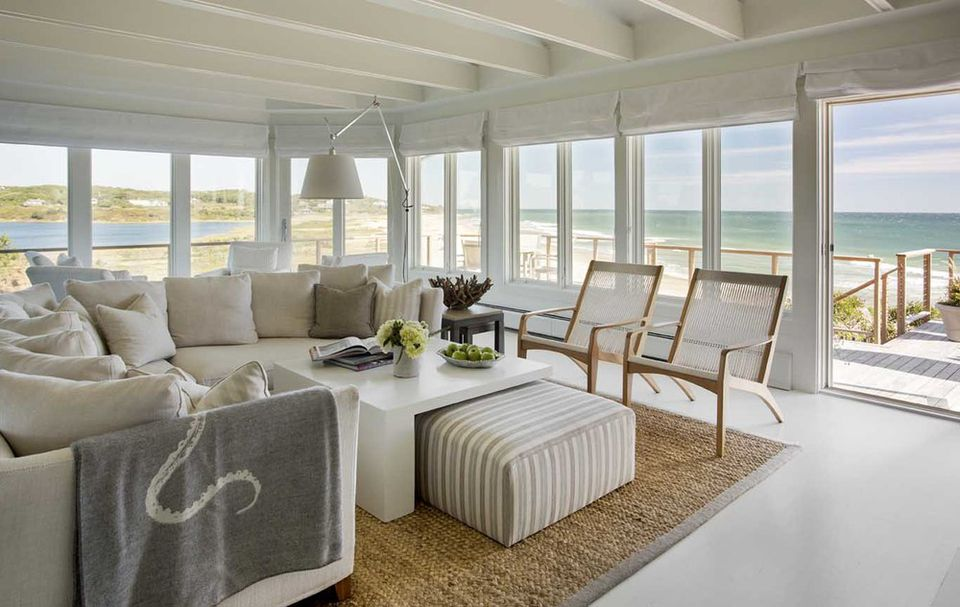 20 beautiful beach house living room ideas for Beach house living room ideas