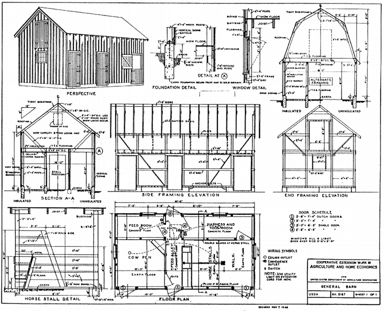 6 free barn plans for Barn blueprints free plans